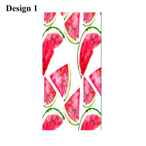 Tropical Watermelon Popsicle Striped Bath Pool Swim Spa Beach Towel Blanket Gift