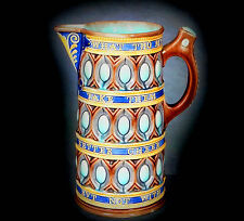 SUPERB 19th. CENTURY WEDGWOOD MAJOLICA ALE JUG