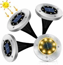 Solar Garden Lights, kdorrku 8 LED Solar Powered Outdoor in-Ground Light