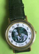 Kuvasz Ladies Dog Watch Green Leather Band New Japanese Movement