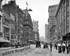 Photograph Vintage New York  Broadway & Victoria Near W.27th 1909c 8x10