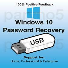 BEST Remove Windows 10 Password Reset Recovery USB Home Professional Enterprise