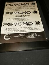 Jack Kittel Psycho Rare Original Promo Poster Ad Framed!