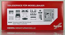 Herpa 083928 Fahrerhaus MAN TGX XLX Euro 6 ohne WLB & Dachspoiler Inhalt:2 Stück