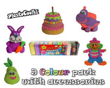 PLASTOCOOLKI - 9pack - Foam Clay Soft Modelling Clay, MEGA FUN
