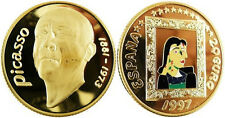 1997 Spain Large Color Gold Plated Picasso/Dora Maar 20 euro