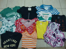 19 LOT JUNIORS AMERICAN EAGLE, HOLLISTER, ABERCROMBIE & FITCH shirts , S