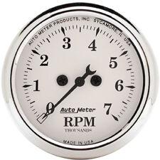 """Auto Meter Old Tyme White 2 1/16"""" Tachometer Mini Tach"""
