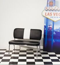 American Diner Furniture 50's Style Retro Bench BLACK