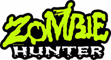 "ProSticker 1346 (One) 4"" x 7"" Zombie Hunter Decal Sticker Apocalypse"