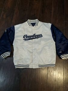 Vintage Reebok NFL Dallas Cowboys Reversible Jacket Size Youth XL 18-20  EUC