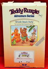 Wow Teddy Ruxpin Adventure Series Grundo Beach Party Book and Cassette 2357