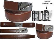 "Men's belt 43"" Genuine Leather Dress/Casual Belt Quick clock Micro adjust Buckle"
