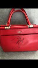 Autographed Coach x Selena Gomez - Selena Grace Handbag Beautiful Red
