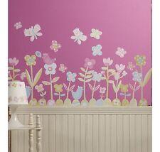 Wallies Baby Daisy Vinyl Wall Decals - Bedroom Wall Sticker Decor