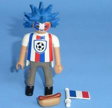 Playmobil French Football Fan Hotdog & Flag - Series 10 Male Figure 6840 NEW