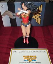 "Wonder Woman ""The Defender"" Gamestop exclusive collectible statue paperweight !!"