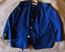 True Vintage aus den 90ern Hugo Boss Sakko 100% Schurwolle Gr 110 Dunkelblau NEU