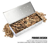 8.85'' Stainless Steel Gas Grill Smoker Box Wood Chip BBQ Smoker Accessories Lid