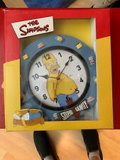 Homer Simpson Clock - Rare - Never Used Still In Original BoX