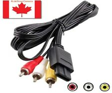 For SNES Nintendo 64 N64 GameCube RCA AV Composite Cable Adapter Audio Video