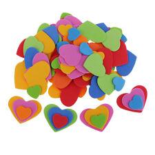 200 Pièces Assorties Amour Coeur Forme EVA Mousse Embellissement pour