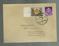 1943 Hamburg Germany Cover Stamp Day Cover to halle