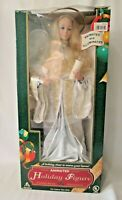 Vintage Animated Holiday Figure Tall Angel Noel Light Motion In Original Box EUC
