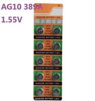 10X Batteries AG10 L1130 LR54 389A SR54 Coin Button Cell Battery Watch camera ☆