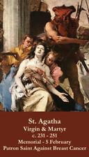 St. Agatha (patron saint against cancer) Prayer Cards, 10-pack