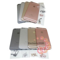 Metal Back Door Battery Housing Cover with Sim Card Tray For iPhone 6 / 6 Plus