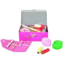 Childrens Knitting Kit French Doll Kids Case Crochet Sewing Set Creative Craft