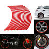"17"" Red Reflective Car Motorcycle Bike Wheel Rim Stripe Tape Decal Stickers"