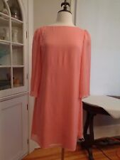ALICE & OLIVIA dusty pastel coral party dress women's size S made in USA crepe