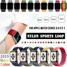 38/42/40/44mm Nylon Sport Loop iWatch Band Strap for Apple Watch Series 5 4 3 2