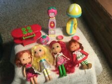 Strawberry Shortcake Dolls( one vintage) and Accessories