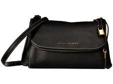 NWT Marc Jacobs Boho Grind Flap Leather Crossbody Bag Key Lock BLACK AUTHENTIC