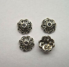 50pcs beautiful Tibet silver Flower End Beads Caps 3x8mm