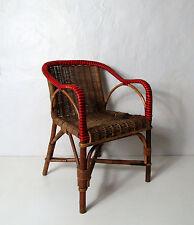 ancien fauteuil rotin enfant Vintage