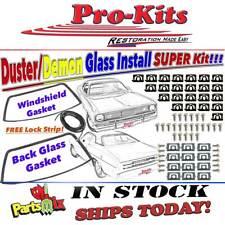 70 71 72 76 Duster Demon Dart Sport Windshield Amp Rear Glass Gaskets W Clips