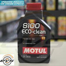 Motul 8100 Eco-Clean 0W30 Olio Motore Auto 100%Sintetico C2 FIAT 9.55535-GS1/DS1