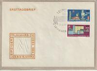 """Ersttagsbrief - """"Leipziger Frühjahrsmesse März 1966"""" mit Marken und Stempel"""