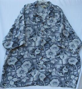 Tommy Bahama men's short sleeve button front silk Hawaiian/Aloha shirt size XXL