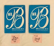 3 Pr Vintage Mr.B 400 / 15 Denier Flat Knit Seamless Nylon Stockings 9 1/2 M 30�