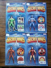 Secret Wars Action Figure Variant Covers Lot Captain America Iron Man Daredevil