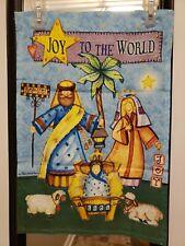 New listing Christmas Joy To The World Nativity Holy Family Garden Flag/Banner