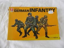 VINTAGE/RARE BANDAI 8255: GERMAN INFANTRY (1:48 SCALE) MADE IN JAPAN (1974) -NEW