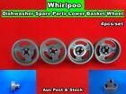 Whirlpool Dishwasher Spare Parts Lower Basket Wheel 4pcs/set - grey NEW (D24)