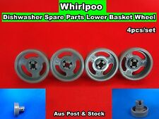 Whirlpool Dishwasher Spare Parts Lower Basket Wheel  4pcs/set - Grey NEW (D24)