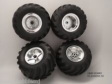 Tamiya Metallic Midnight Pumpkin / Unimog Wheelie 4 Chrome Rim and Tire Combo